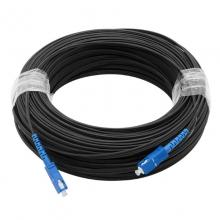 【正品行货 假一赔十】  室外皮线光缆成品皮线室外SC-SC光纤线成品单芯光缆100米    SC单模 皮缆 成品光纤跳线  100米皮缆