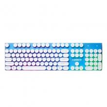 凯迪威CK10朋克键盘悬浮钢板键盘采用6色分层发光技术悬浮键帽设计1680万色幻彩呼吸灯键盘