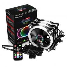 动力火车幻彩一拖三RGB机箱风扇遥控变色台式机散热器组彩色风扇
