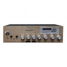 曼哈盾MK-60A定阻小功放30W峰值功率.自带MP3解码板功能、FM收音功能,只要插入存有MP3格式歌曲的U盘或SD卡,本机就可以自动播放音乐(即插即用),可为你省下其它音源设备。(定阻功放)音响功放 音箱功放          功放机