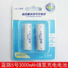 蓝路5号3000mAh毫安充电电池 镍氢麦克风KTV话筒电池 玩具鼠标充电电池(双节)