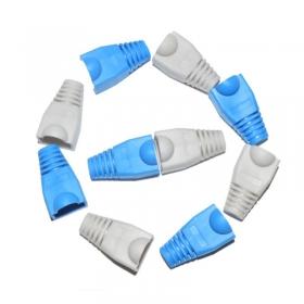 PVC环保RJ45水晶头胶套网络水晶头护套网线超五类水晶头保护套(100个)