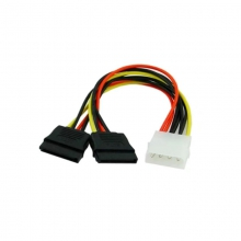 串口电源线1分2 SATA电源线一分二串口电源线一分二硬盘电源线 D型转2个SATA串口