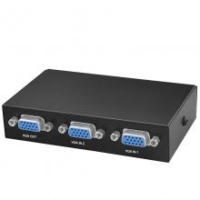 切换器 VGA 二切换一  vga切换器二进一出电脑高清视频2进1出电视显示器2口共享器二口无缝切换