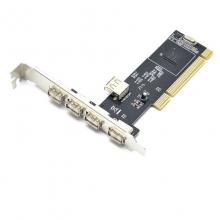 PCI扩展卡 台式电脑主机后置5口USB2.0扩展 SL-2u5