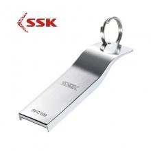 「小巧玲珑」SSK飚王K5 USB 2.0 16G 32G可选 不锈钢全金属 薄型 u盘
