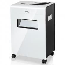 得力(deli) 9911 平板系列碎纸机  可碎光盘可碎卡保密超国标静 白色