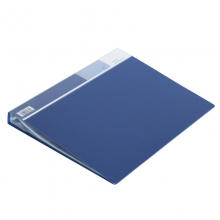 得力 5006 文件夹插页 A4 文件册资料夹 透明插页夹80页资料册 办公用品 蓝色(本)