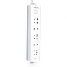 得力 18252 插座插排插线板接线板排插电源防触电拖线板多功能家用(白)2米