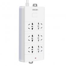 得力 18261 接线板插排家用带线插座5米插线板拖线板开关电源 白色
