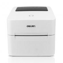 得力(deli)热敏不干胶打印机 条码标签打印机 三防热敏标签纸 不干胶打印纸 条码纸 DL-740C 标签打印机白色