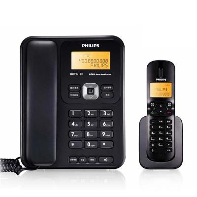 飞利浦DCTG182电话机 数字无绳电话子母机 办公家用固定电话座机 白色/黑色