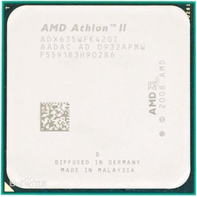 AMD 速龙II X4 635 四核 AM3 2.8GHz 938针 散片CPU 拆机