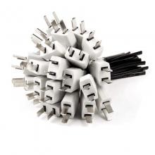 无氧铜带线公插头2*0.5无氧铜带线公插头质量超好!省空间!