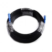 光纤跳线 150米成品光纤皮线 黑色两端机器压好sc-sc接头三根钢丝