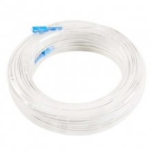 光纤跳线 室内1芯2钢丝成品光纤皮线(100米)白色 电信级! 白色100米 两端接好头!