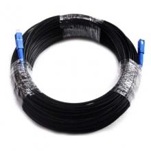 光纤跳线 成品光纤皮线(125米)黑色 黑色三钢丝 125米SC-SC接好头成品光纤