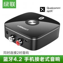 绿联蓝牙接收器aux接口3.5mm音响功放蓝牙耳机音频4.2接受适配器
