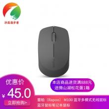 雷柏(Rapoo) M100 蓝牙多模式无线鼠标 蓝牙鼠标笔记本鼠标 静音鼠标