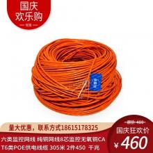 大华(dahua)六类监控网线DH-PFM920I-6U 纯铜网线8芯监控无氧铜CAT6类POE供电线缆 整箱305米
