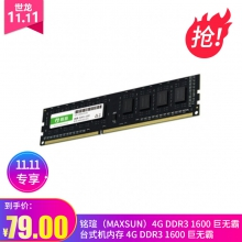 【终身质保 售后换新】铭瑄(MAXSUN)4G DDR3 1600 巨无霸 台式机内存 4G DDR3 1600 巨无霸