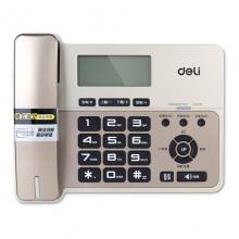 得力(deli) 得力796 电话机语音 来电显示 抗电磁 计算器功能 香槟金 金属灰