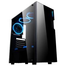 航嘉机箱 航嘉GX500T机箱 钢化玻璃侧板办公游戏好选择USB3.0传输 侧透机箱 游戏机箱 电脑机箱 主机机箱 下至电源支持背线机箱