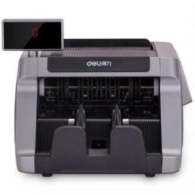 得力新品T831s B类智能双屏点钞机 新版人民币银行专业便携验钞机