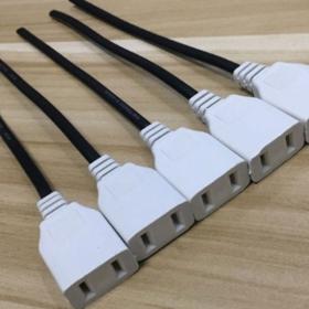 监控接线两脚2脚二项两相两孔对插公母对接插头电源插头家用插座