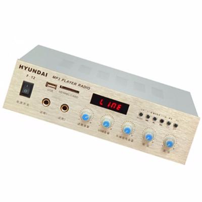 现代f-12(蓝牙定压功放)内置 mp3解码播放器与fm收音机播放器,可自由