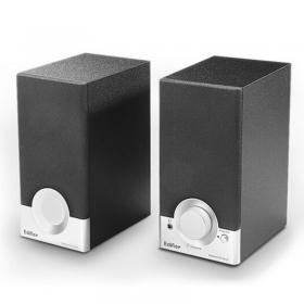 漫步者(EDIFIER) R18T 2.0声道 木质多媒体音箱 音响 电脑音箱 黑色 2.0USB接口 桌面音响