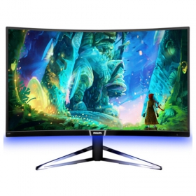 飞利浦显示器 328M6FJMB 31.5英寸 2K曲面144Hz流光溢彩 电脑游戏电竞屏 32寸