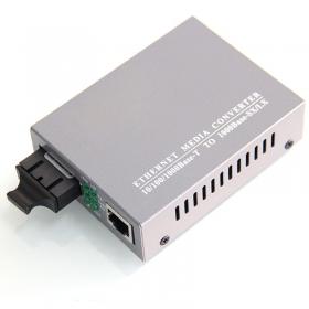 优易联 Y-6100千兆单纤单模 光纤收发器