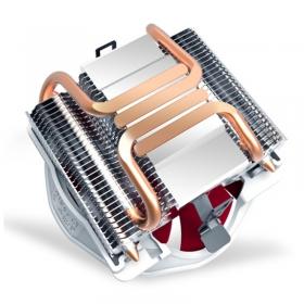 超频三(PCCOOLER)七星瓢虫V6智能版 cpu散热器 12CM风扇温控4热管主机风扇