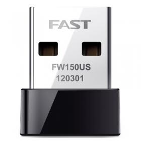 迅捷(FAST)FW150US 免驱版迷你USB无线网卡 台式机笔记本随身wifi接收器