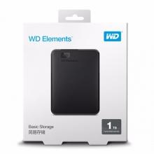 【正品行货 假一罚十】西数2T移动硬盘     西部数据(WD) Elements 新元素系列 2.5英寸 USB3.0 移动硬盘 2TB(WDBUZG0010BBK)三年质保