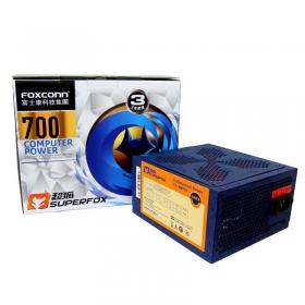 富士康台系电源 超狐700 额定550W 宽幅静音 三年换新