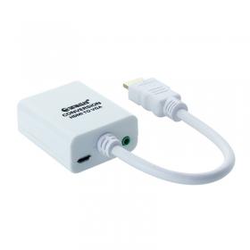 20个以上9.99飞尼尔HDMI转VGA带音频接口高清电脑投影仪机顶盒转换器 带音频