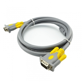终身质保V-LINK vga3+6线工程级无氧铜电脑显示器投影仪高清连接线vga视频数据线  使用寿命高于普通产品50倍1.5米五条起提 3米 5米 10米 15米不限量