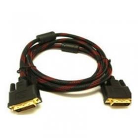红黑网高清DVI线 高清数据线 DVI24+1 DVI 连接线1.5米 DVI电脑连接线