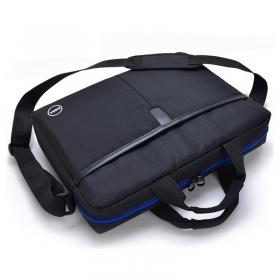 戴尔笔记本电脑包15/14寸 男女黑色简约商务出差单肩手提包