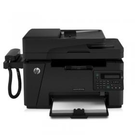 惠普(HP) M128fp黑白激光一体机 打印复印扫描传真 电话手柄黑白激光打印机HP128