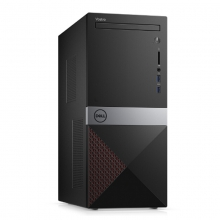 戴尔DELL 成就3670-R17N8RR 办公娱乐台式电脑(i3-8100 4G 1T 2G独显)单主机  红色