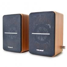 技腾乐儿飞JT009音响电脑多媒体低音炮桌面木质音箱台式机笔记本2.0USB手机小音响