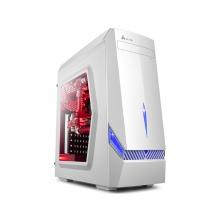 金河田 竞技大师 G6台式机电脑机箱游戏水冷ATX大板机箱背线 侧透