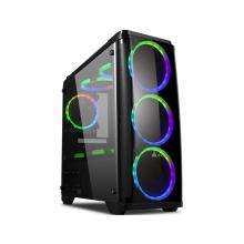 金河田预见N53台式电脑主机箱全侧透M-ATX水冷USB3.0游戏机箱
