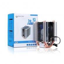 动力火车冰刃散热器四铜管导热智能温控超静音CPU风扇台式机电脑