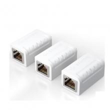 联刀 六类屏蔽网络直通头 网线延长连接器 屏蔽双通头水晶头转接头网线对接头