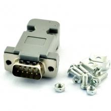 COM焊接头 串口RS232插头 DB9公母针孔 镀金车针电脑头 串口外壳