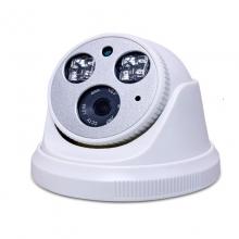 """《内置音频》多倍清DB-102TY天视通方案400万内置拾音器半球 265+存储减半网络摄像机1/2.7""""超低照度  ,内置2颗大功率LED有效距离30-50米红外防水监控摄像头,防浪涌及雷击保护装置,有效防止6500V瞬时电流。ICR双滤"""